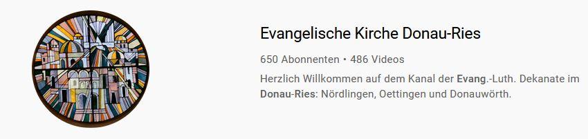 YouTube Donau-Ries Evangelisch